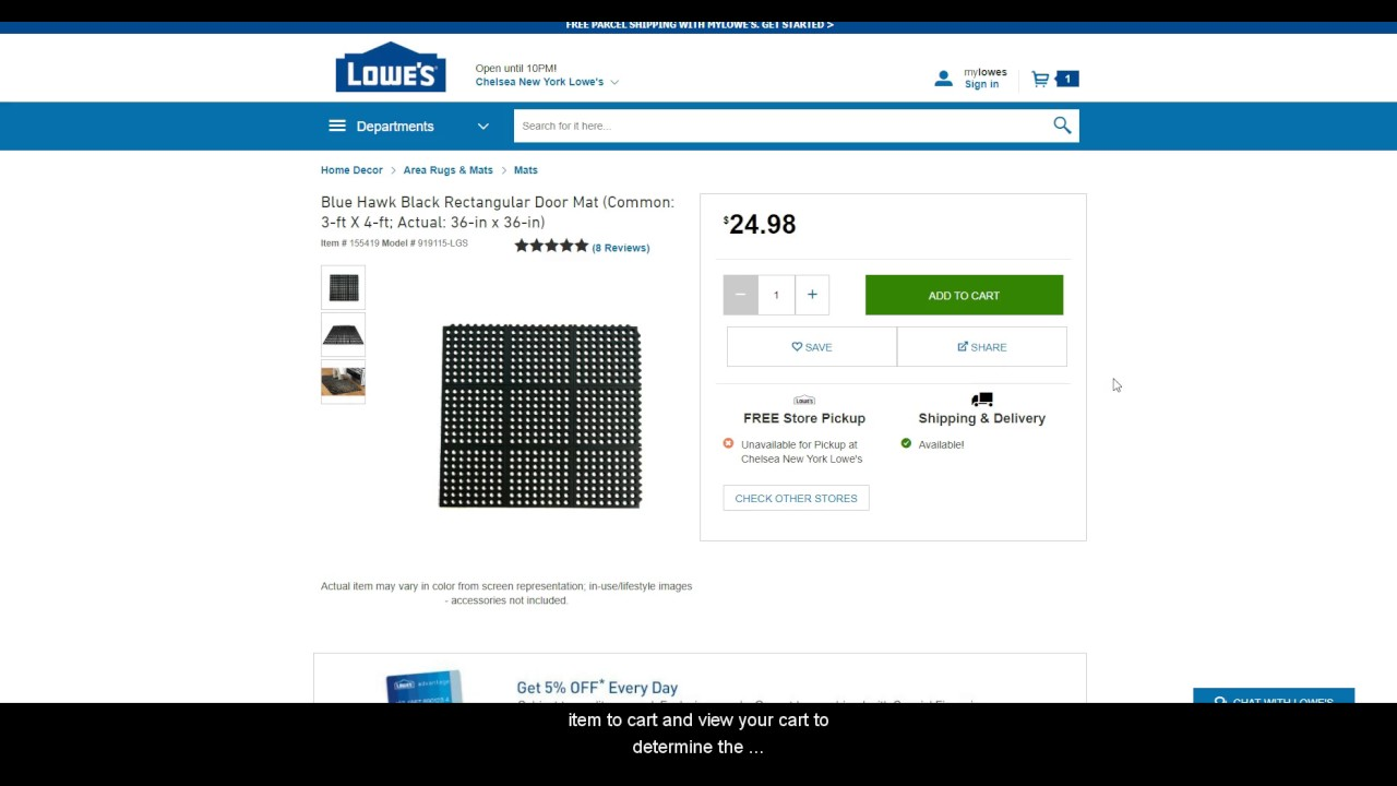 Sku Grid: Special Stores - Lowes