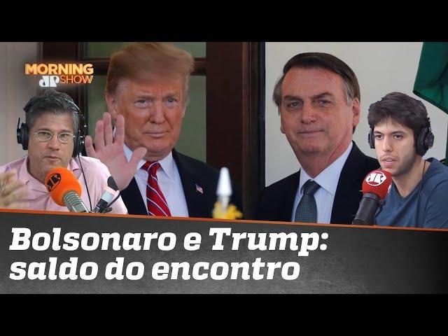 O saldo da viagem de Bolsonaro aos EUA. Caio e Edgard protagonizam debate