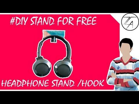 How to make a Headphone stand/hook| Diy headphone stand | Headphone hook |#DIY