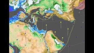 Gondwana breakup and the Western Tethys (regional view)