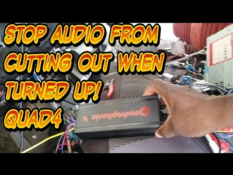 Sound cutting in and out when audio volume is high
