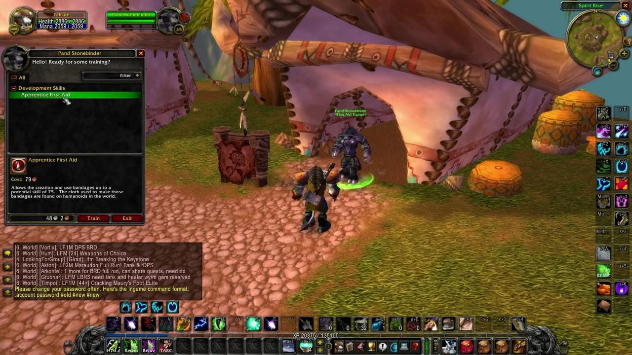 World Of Warcraft Fist Aid Training