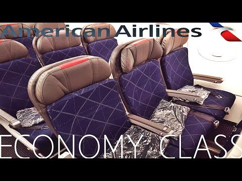 American Airlines ECONOMY CLASS Los Angeles to New York Airbus A321T