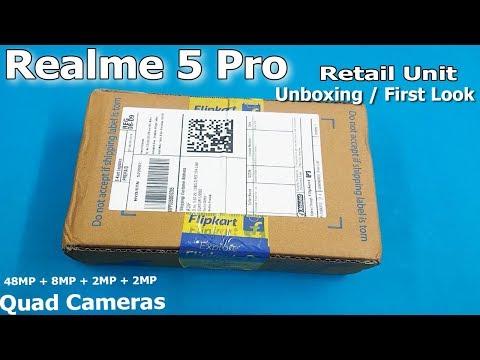 Realme 5 Pro unboxing / First Look    Quard Cameras    Realme 5 Pro Retail Unit