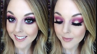 NEW YEARS EVE PURPLE AND GOLD EYE LOOK Thumbnail