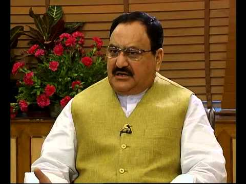 Interview of Shri J.P. Nadda, Union Minister of Health and Family Welfare, on Doodarshan