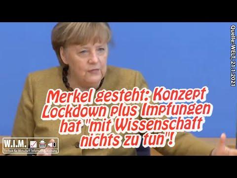 Merkel gesteht: Konzept Lockdown plus Corona-Impfungen haben