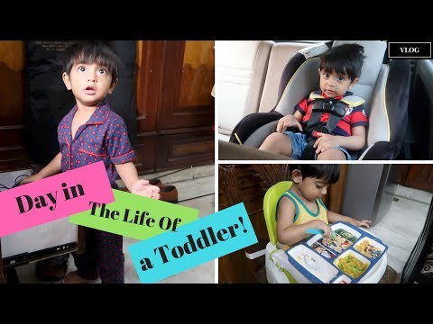 A Day in The Life of a Toddler - 16 - 17 month old - Indian Mommy Vlogging channel - 동영상