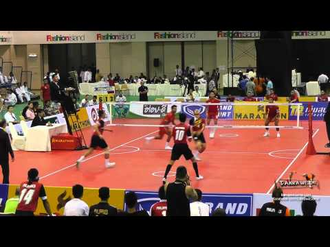 2015 King's Cup | 3rd REGU Philippines vs. Singapore Team Final | Sepak Takraw