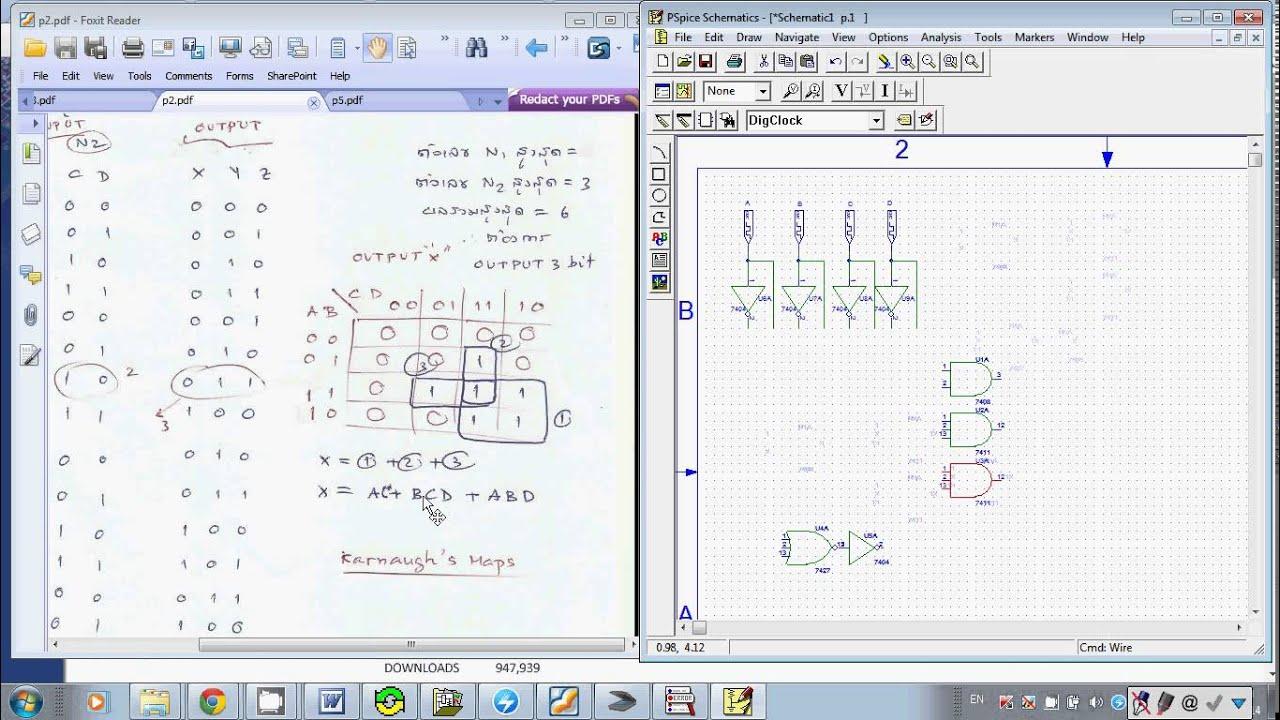 Basic Digital Logic Design by PSPICE I:(Thai) - YouTube