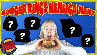 5 HEMLIGA saker du kan beställa på Burger King (JAG TESTAR ALLA)