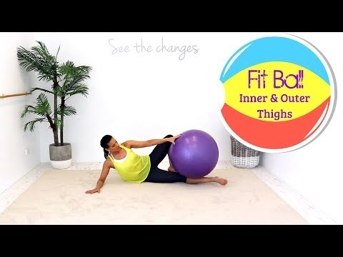 Exercise Ball Stability Ball Workout - BARLATES BODY BLITZ Fit Ball Inner and Outer Thighs