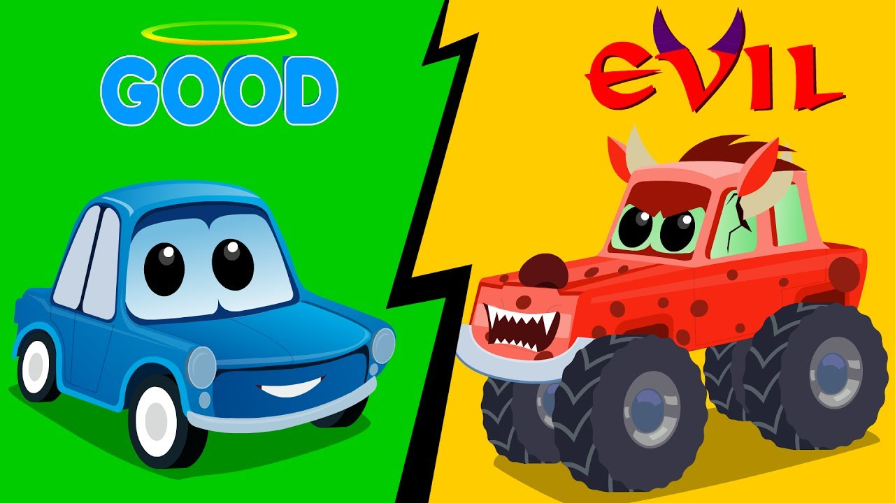zeek friends good vs evil good car vs evil car cartoons video of cars