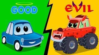 Zeek & Friends | Good vs Evil | good car vs evil car | Cartoons Video of cars