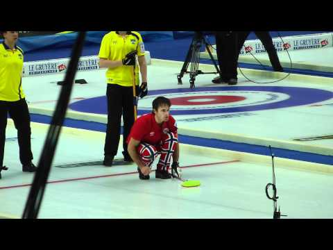 Curling European Chempionatship Moscow 12/11/11 Norway Sweden 7-6