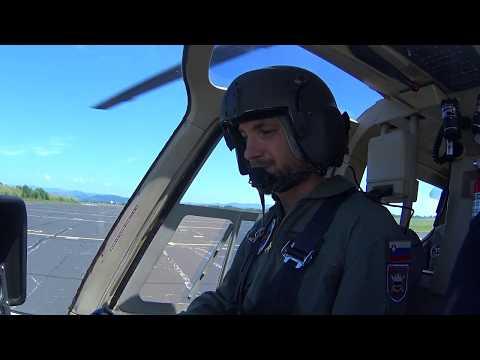 Bell 206B 3 JetRanger flight - Slovenian Air Force