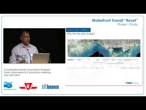 "Waterfront Transit ""Reset"" Study Public Meeting"