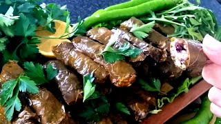 Easy Stuffed Vine Leaves Recipe - Dolma - How to make Dolmades