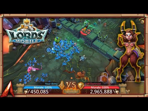 Lords Mobile 450k Troops VS. 2.6M Darknest! Guild Fest Rewards!