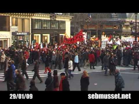 REVE GENERALE A PARIS / 29.01.2009