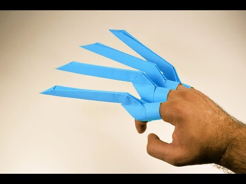 Origami Paper Claws   Wolverine Claws   Easy Origami