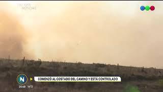 Controlaron el incendio en Cuesta Blanca en el acceso al camino de las Altas Cumbres