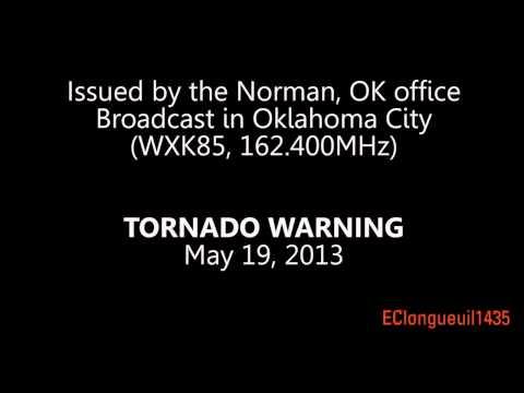 Oklahoma City - Severe Thunderstorm Warning interrupted by TORNADO WARNING - TOR [EAS #8]