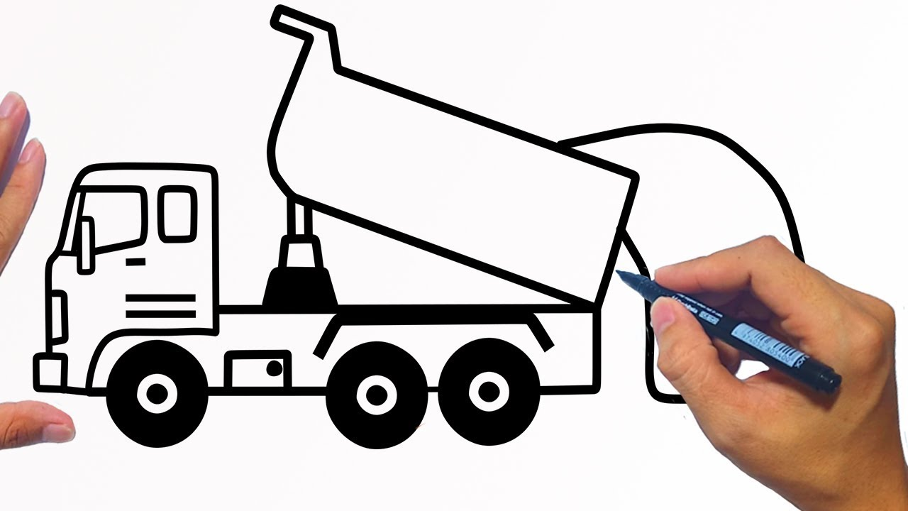 How to draw a dump truck easy step by step | Jelly Colors ...