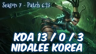 NIDALEE Korea vs KHA'ZIX Jungle - Patch 6.23 KR Ranked