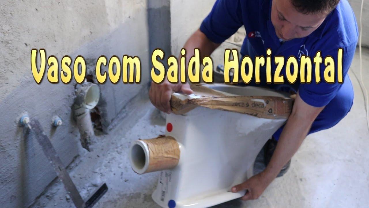 Vaso sanit rio com sa da horizontal youtube for Ofertas de sanitarios
