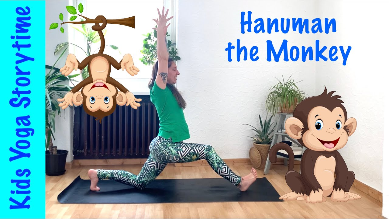 🐵 Kids Yoga Storytime | Hanuman the Monkey 🐒 | Yoga for Kids Aged 3-8 | REAL YOGA