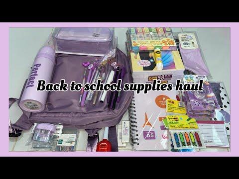 Back To School Supplies Haul 📚//indo🇮🇩