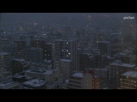 Heavy snowfall.at Tokyo,JAPAN (Night view) 2013/1/14 雪が降る東京都内 (夜景)