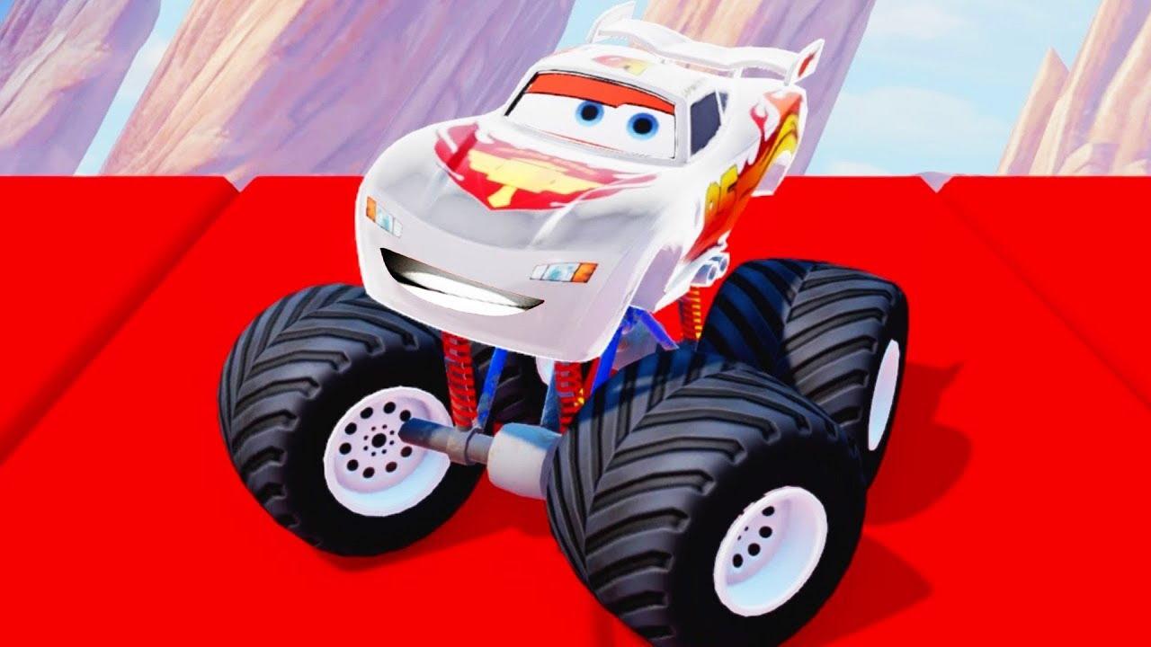 Cars 3 Fabulous Monster Ligtning McQueen Crash Hot Wheels Cartoon For Kids