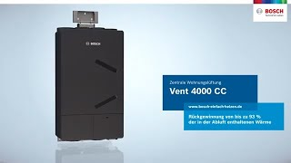 Wohnungslüftung einfach umgesetzt: Die Vent 4000 CC von Bosch