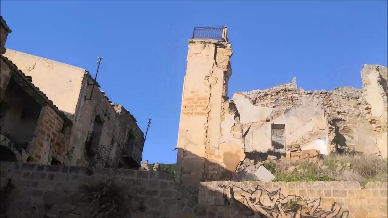 Sicile,Poggioreale La ville fantôme