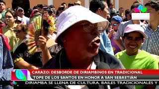 Multinoticias | Desborde de diriambinos en tradicional tope de los santos en honor a San Sebastián