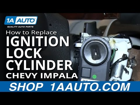How To Install Replace Ignition Key Lock Cylinder Chevy Impala and