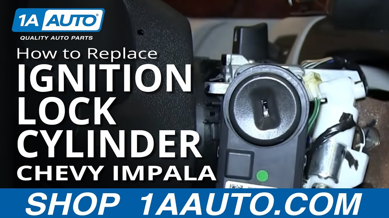 how to install replace ignition key lock cylinder chevy impala and other gm vehicles [ 1280 x 720 Pixel ]