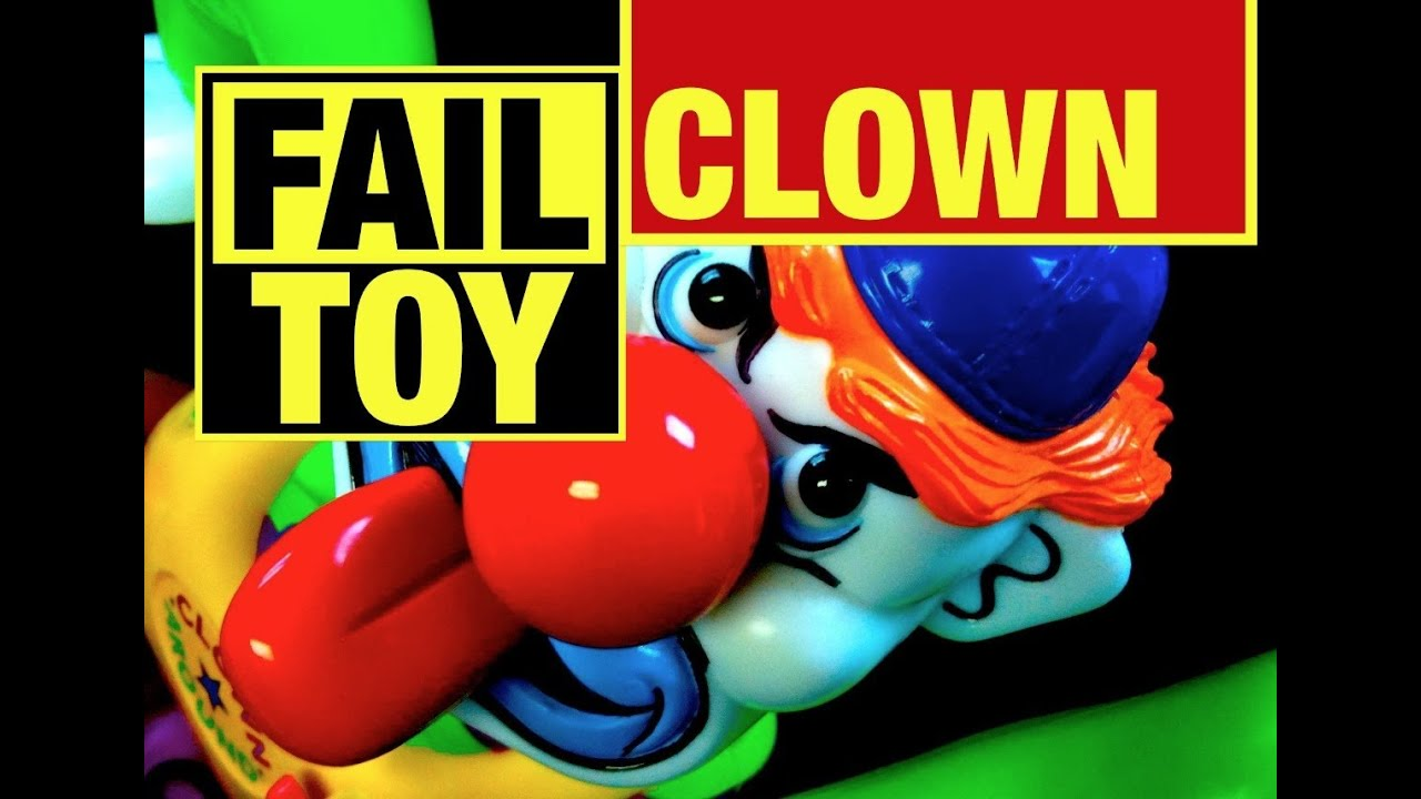 Epic Fail Toy Evil Clown Around Game Fail Toy Review By