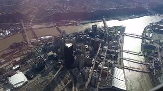 Landing at Pittsburgh International Airport - April 2015