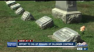 Effort to dig up remains of Dillinger continue