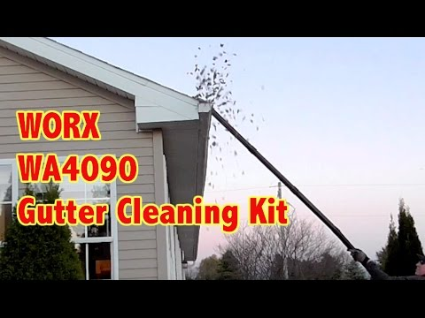 Gutter Cleaning Kit Review- Worx 11' Reach WA4090