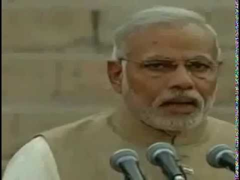 Shri Narendra Modi taking Oath Ceremony as India's 15th PM Speech ceremony 2014 Parliament House