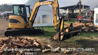 Halverson Wood Processor HWP-120 on CAT Mini Excavator