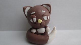 Кот из полимерной глины / мастер класс как слепить кота / cat from polymer clay