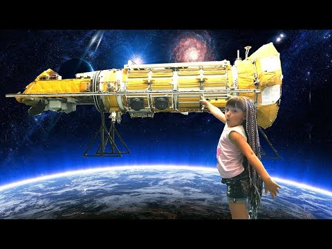 Space Museum / real satellites rockets and starships / Video for children