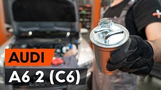 How to change fuel filter AUDI A6 (C6) [TUTORIAL AUTODOC]