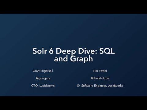Webinar: Solr 6 Deep Dive: SQL and Graph