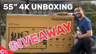 "Thomson 55"" 4K, HDR TV Unboxing and Giveaway (2 TVs!)"